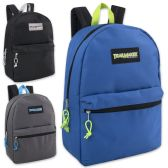 24 Units of Trailmaker Classic 17 Inch Backpack - In 3 Colors Boys Colors - Backpacks 17""