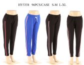 24 Units of Womens Joggers In Assorted Color With Stripe - Womens Pants