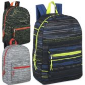 "24 Units of 17 Inch Printed Backpacks - Boys 3 Color - Backpacks 18"" or Larger"