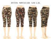 24 Units of Womens Camo Capris Assorted Color - Womens Capri Pants