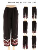 24 Units of Womens Fashion Pants With Assorted Design - Womens Pants