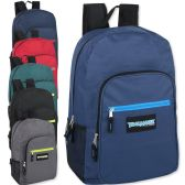 "24 Units of Trailmaker Deluxe 19 Inch Backpack- 6 Colors - Backpacks 18"" or Larger"