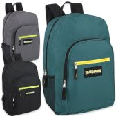 "24 Units of Trailmaker Deluxe 19 Inch Backpack - 3 Colors - Backpacks 18"" or Larger"