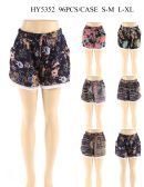24 Units of Women Fashion Assorted Printed Shorts - Womens Shorts
