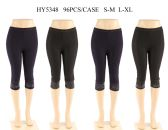 24 Units of Womens Fashion Capris With Sequins - Womens Capri Pants