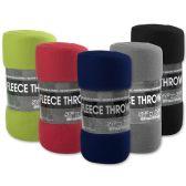 "24 Units of Fleece Blankets 50"" x 60"" - 5 Assorted Colors - Fleece & Sherpa Blankets"