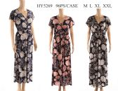 48 Units of Womens Long Printed Sun Dress - Womens Sundresses & Fashion