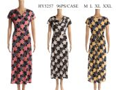 48 Units of Womens Long Floral Summer Sun Dress - Womens Rompers & Outfit Sets