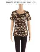 24 Units of Womens Fashion Camo Top With Shimmer - Womens Fashion Tops