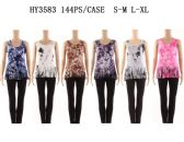 24 Units of Womens Summer Tye Dye Shirt With Fringes - Womens Camisoles & Tank Tops