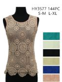 24 Units of Womens Summer Lace Top Assorted Colors - Womens Camisoles & Tank Tops