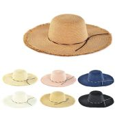 30 Units of Womens Paper Sun Hat Assorted Color - Sun Hats
