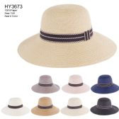 30 Units of Womens Paper Assorted Color Bucket Hat - Sun Hats