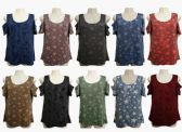48 Units of Womens Assorted Color Star Tee - Womens Camisoles & Tank Tops