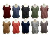48 Units of Womens Assorted Color Tee - Womens Camisoles & Tank Tops