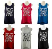 48 Units of Womens Assorted Color Love Me Tee - Womens Fashion Tops