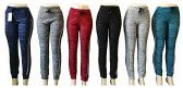 48 Units of Womens Assorted Color Pants With Stripe - Womens Pants