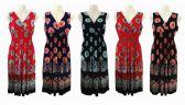 48 Units of Womens Fashion Elastic Waist Summer Dress - Womens Sundresses & Fashion