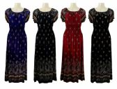 48 Units of Womens Scoop Neck Long Summer Dress With Elastic Waist - Womens Sundresses & Fashion