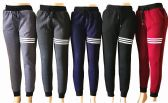 48 Units of Womens Winter Fur Lined Striped Joggers - Womens Pants