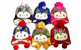 120 Units of Winter Warm Kids Animal Hat With Earcuff Cap And Pom Pom - Winter Hats
