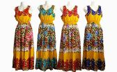 48 Units of Womens Fashion Cotton Sun Dress With Gathered Waist Assorted Colors - Womens Sundresses & Fashion
