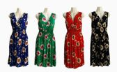 48 Units of Womens Fashion Cotton Round Neck Short Floral Sun Dress - Womens Sundresses & Fashion