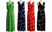 48 Units of Womens Fashion Long V Neck Sun Dress - Womens Sundresses & Fashion