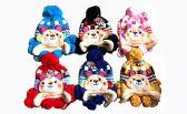 144 Units of Toddler Earflap Beanies Hat Animal Ears Lined Cap Winter Teddy Bear - Junior / Kids Winter Hats