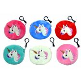 48 Units of UNICORN FUZZY COIN PURSE - Key Chains
