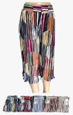 120 Units of Womens Multi Colored Pleated Skirt - Womens Skirts