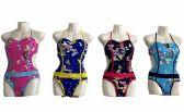 72 Units of Womens One Piece Swimwear Swimsuits Criss Cross Sexy Bathing Suits Deep Sea Pattern - Womens Swimwear