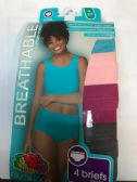 240 Units of Fruit Of The Loom Women's Full Size Brief Breathable Cotton Mesh - Womens Panties & Underwear