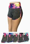 144 Units of Women Workout Running Shorts Two in One Active Yoga Gym Sport Shorts - Womens Active Wear