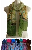 72 Units of Scarfs for Women Lightweight Floral Print Shawl Head Wraps - Womens Fashion Scarves