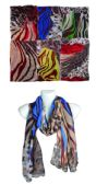 144 Units of Fashion Leopard Pattern Scarf for Women Unique Ladies Animal Print Scarves Shawl And Wraps - Womens Fashion Scarves