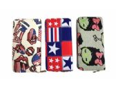 120 Units of Fashion Wallet With Flag Zipper Closure - Wallets & Handbags