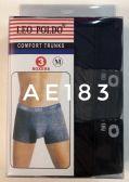 60 Units of Leo Foldo Comfort Boxer Trunks - Mens Underwear