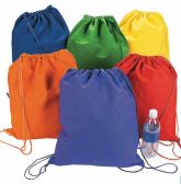 72 Units of Assorted Colors Draw String Cinch Bag 13 Inch - Bags Of All Types