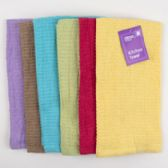 72 Units of Kitchen Towel 15x25 6 Assorted Colors See N2 Peggable - Kitchen Towels