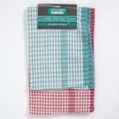 72 Units of Kitchen Towels 2pk Flour Sack 18x28 White W/color Stripe - Kitchen Towels