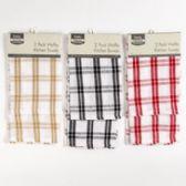 48 Units of Kitchen Waffle Towel 2pk 16x24 3 Colors - Kitchen Towels