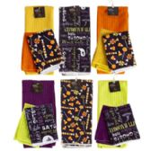 48 Units of Kitchen Textile Hlwn Microfiber 2pk Dishcloth/1pk Towel 10 Asst Hlwn Wrap Card/ht & J-hook - Kitchen Towels
