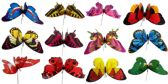 48 Units of Garden Stake Decoration Butterfly Assorted Colors - Garden Decor