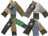 60 Units of Mens Assorted Pattern Dress Socks Size 10-13 - Mens Dress Sock