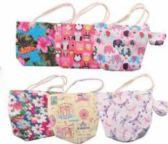 24 Units of Kids Printed Beach Tote Bag With Coin Bag - Tote Bags & Slings