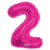 30 Units of Thirty Four Inch Pink Balloon Number Two - Balloons & Balloon Holder