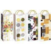 144 Units of Wine Bag Metal Handle Hot Stamp - Gift Bags Hologram