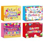 144 Units of Hot Stamping Gift Bag Large - Gift Bags Assorted