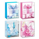 72 Units of Baby Bag Glitter - Gift Bags Baby